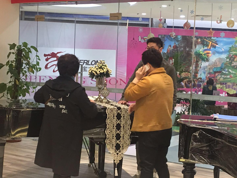 黄岛学校老师购买英昌三角钢琴Y185DW